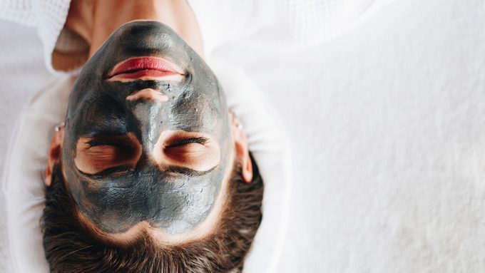 activated charcoal for skin and hair face mask spa