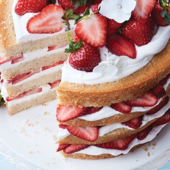 Mile-High Strawberry Shortcake