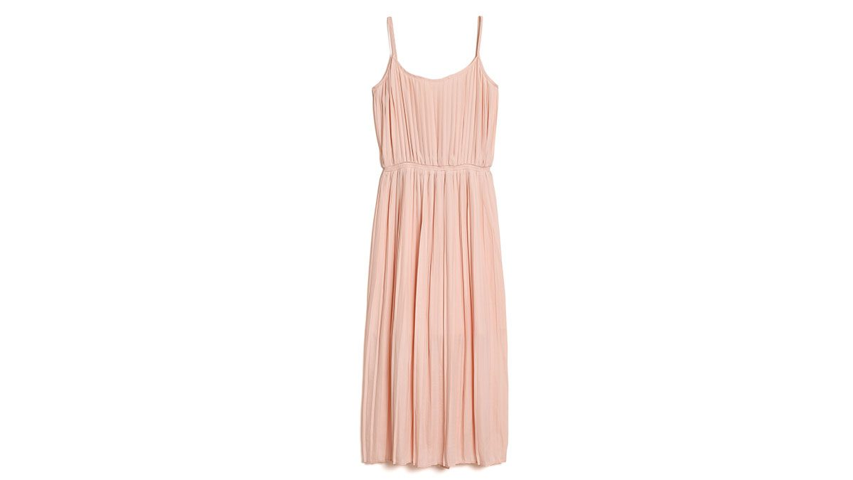 how to wear millennial pink, Gap pleated dress