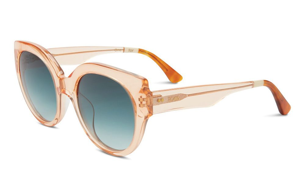 how to wear millennial pink, Toms transluscent pink framed sunglasses