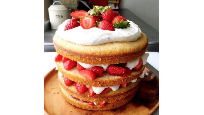 instagram, layered strawberry shortcake
