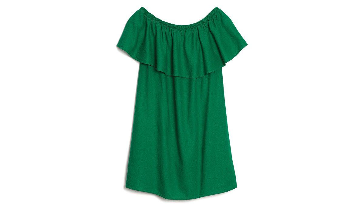 summer-green-fashion-off-shoulder-ruffle-top
