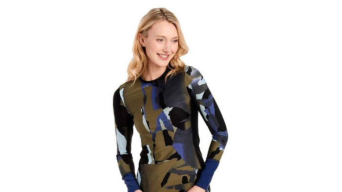 summer layering top, a long-sleeved swim top