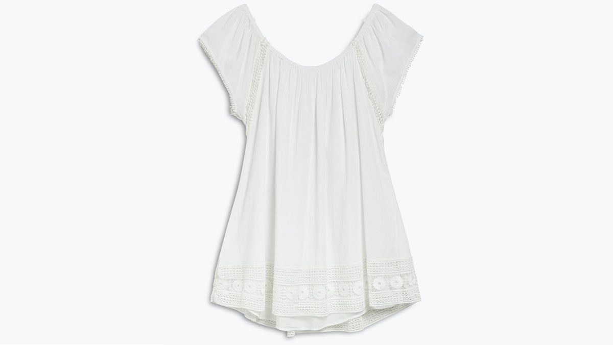 summer layering white dress, a flirty, baby doll eyelet dress