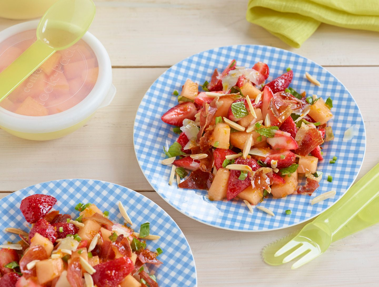 Cantaloupe and Almond Salad With Fresh Herbs