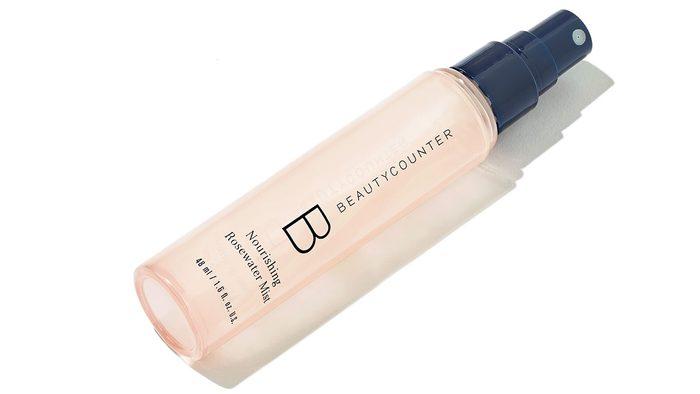 Jeanne Beker's purse, Beauty Counter Rose Mist