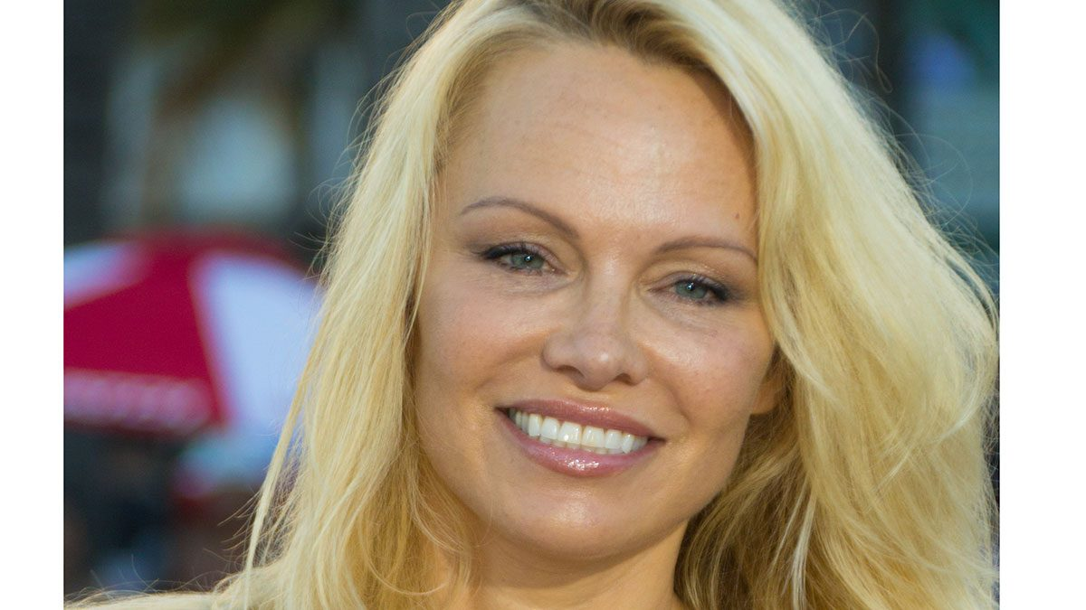 Pamela Anderson vegan diet, a headshot of Pamela Anderson on the red carpet