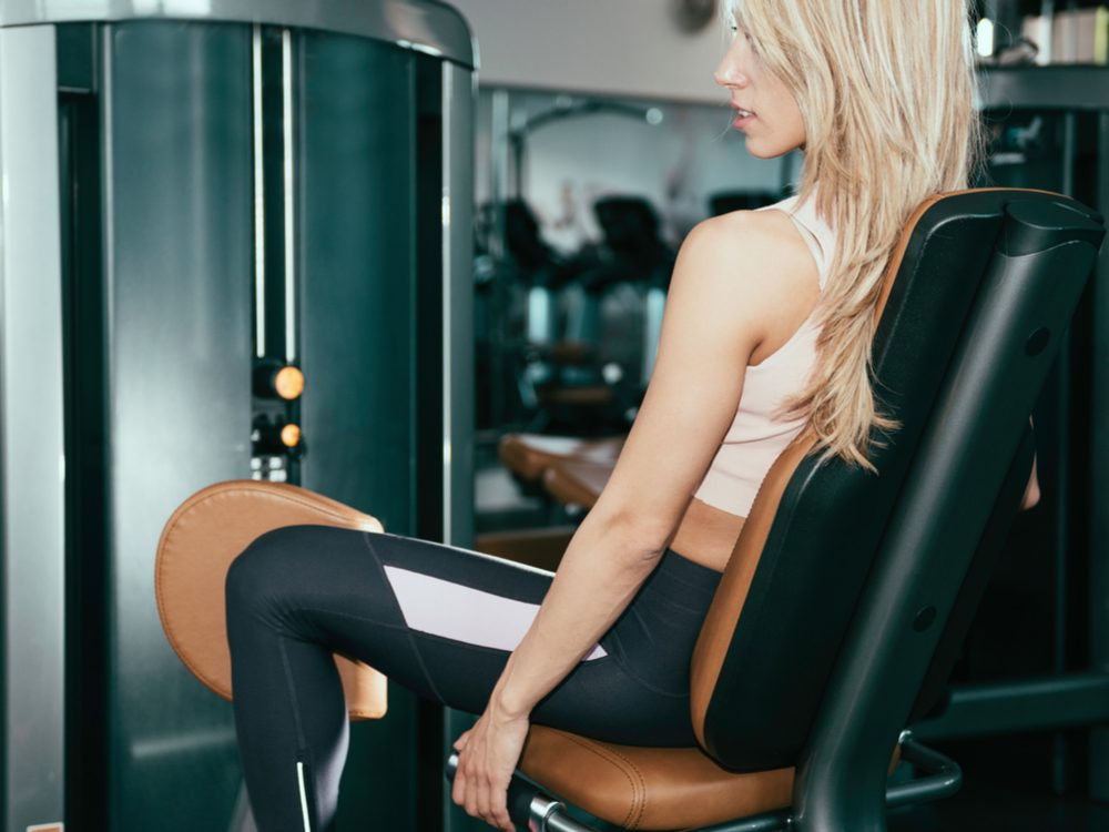 Avoid doing exercises on the inner and outer thigh machine
