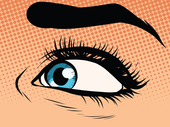 Dry eyes are a sign of perimenopause