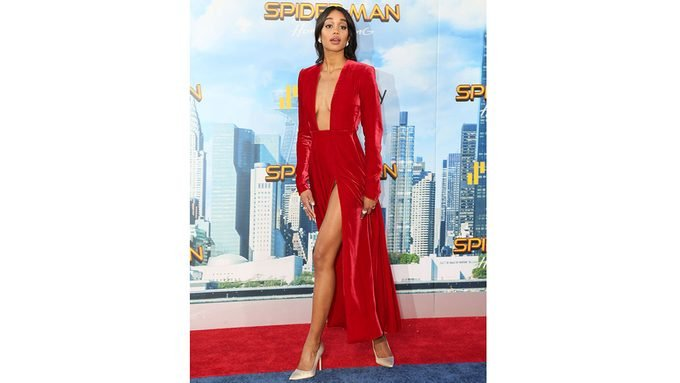 laura harrier spider-man training, Laura Harrier on the red carpet for the Spider-Man movie