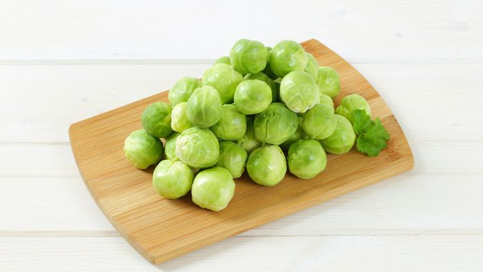 nutrient deficient folate, a pile of Brussels sprouts