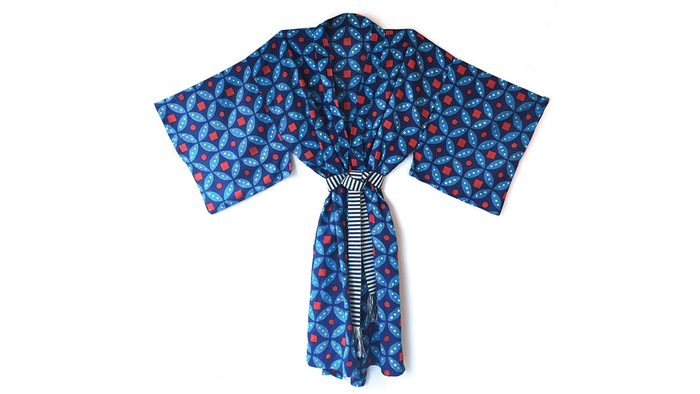 summer blue trends, kate austin kimono