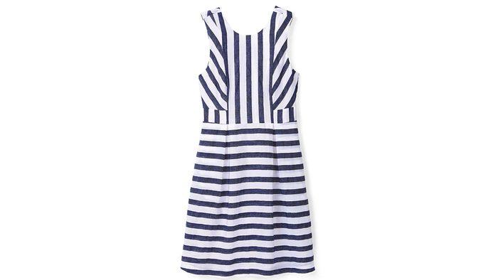 summer blue trend, striped dress