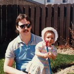 One Walk Charity Walk, Caralia Fabiano as a baby with her father