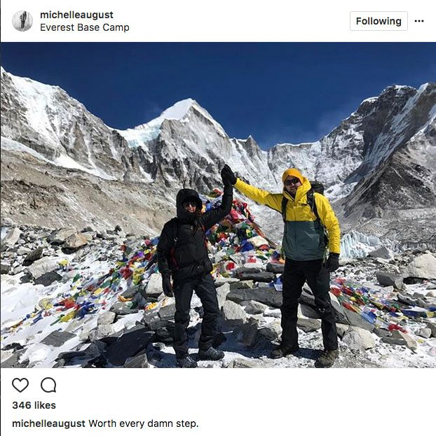 Michelle August, at Mount Everest