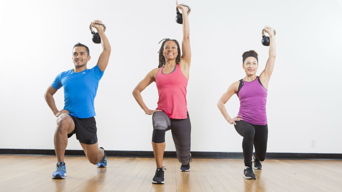 Vancouver fitness classes Steve nash hells bells, a group doing fitness classes