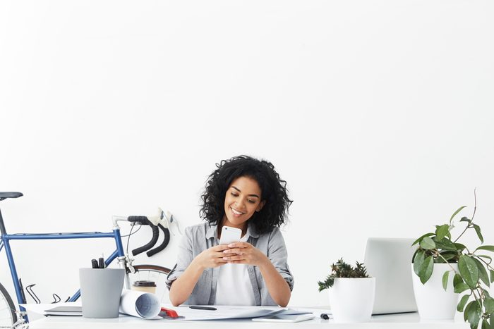 next overnight success_hardworking woman sitting at her desk