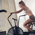 cycling training on a stationary bike