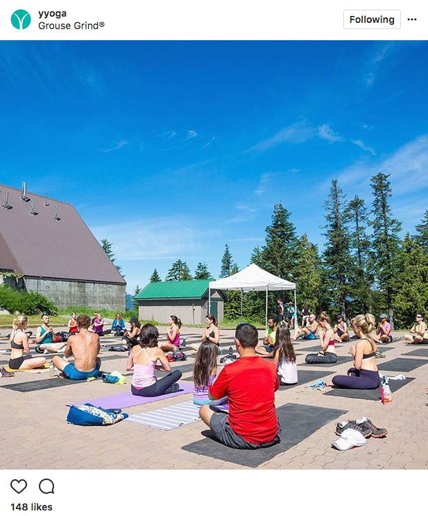 Instagram Yoga, grouse grind vancouver
