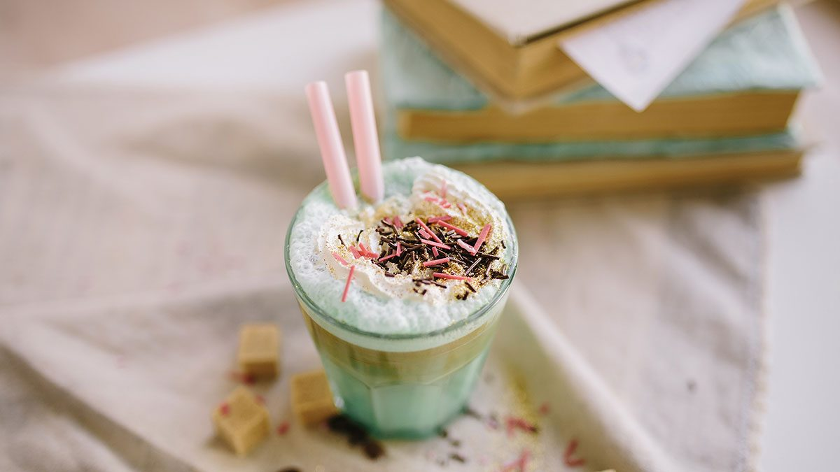 juice bar cookbooks, a unicorn smoothie