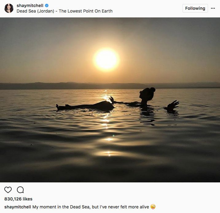 shay mitchell stay fit, Shay Mitchell swimming while on vacation