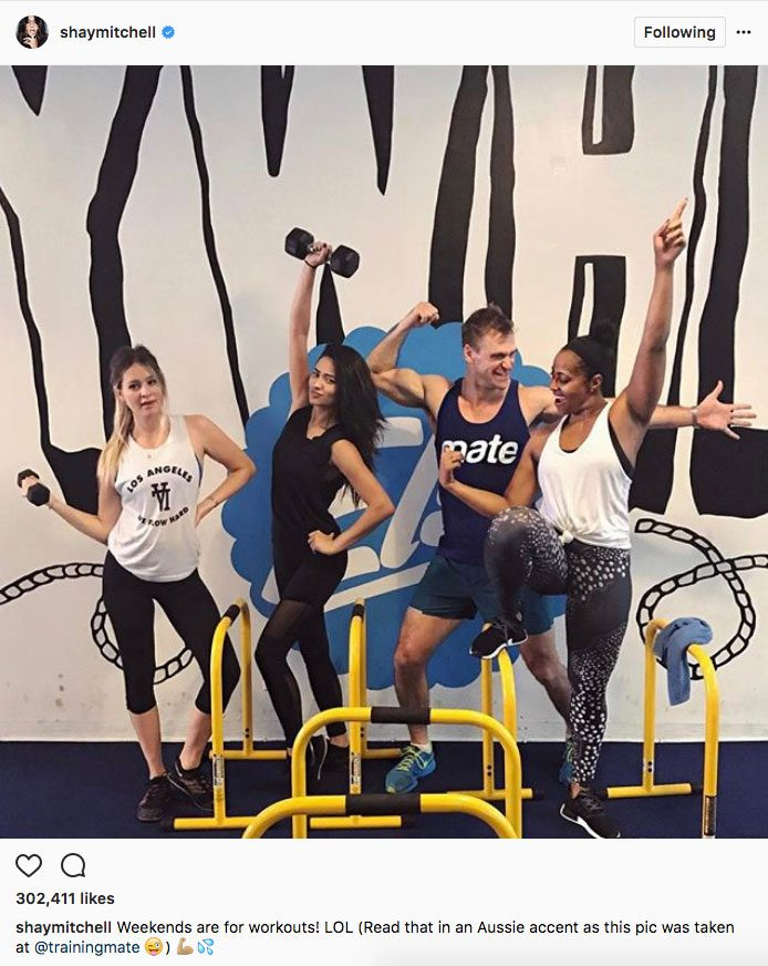Shay Mitchell stay fit instagram, Shay Mitchell and her workout crew