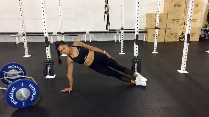 workout for runners, side plank
