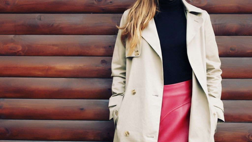 Fall wardrobe, woman wearing layers