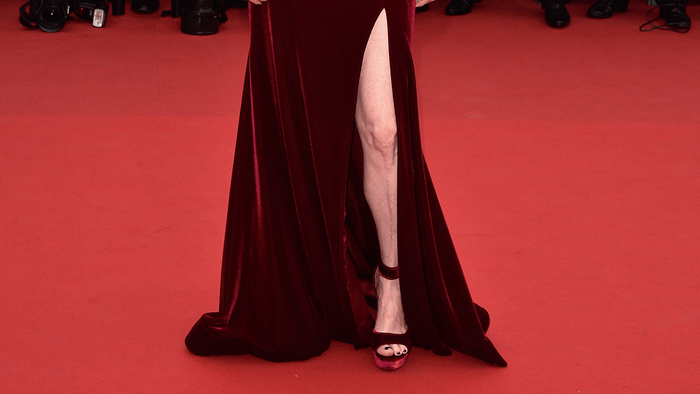 Julianne Moore red carpet, Julianne Moore's Givenchy heels on the red carpet in Cannes