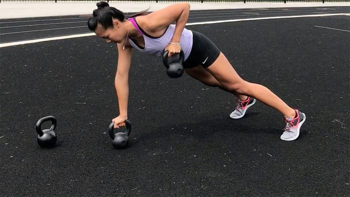 Kettlebell Moves For Abs: Renegade Rows