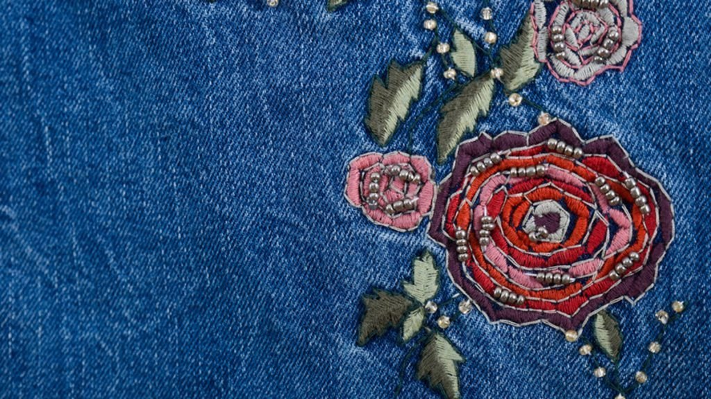 Revamp your fall wardrobe, rose embroidery