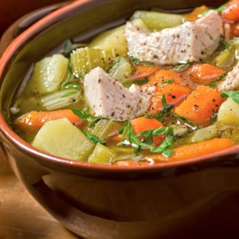 Hearty Vegetable and Turkey-Bacon Soup