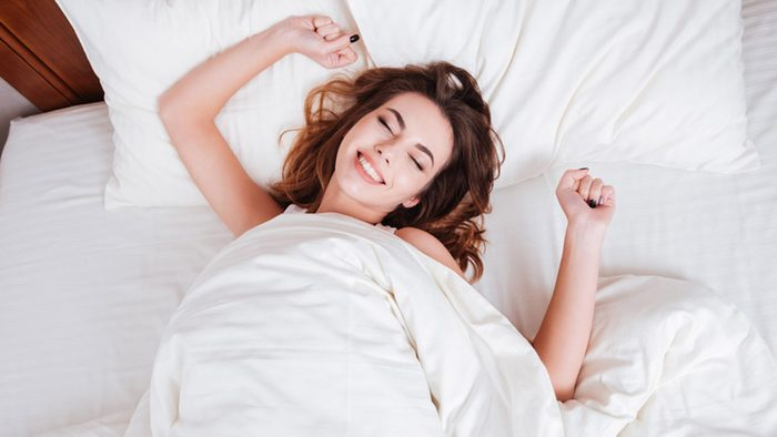 Weight loss tips, woman in bed