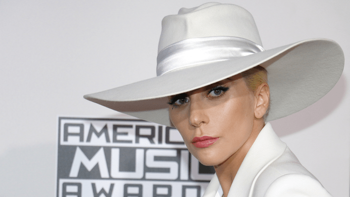 celebrities and weed, Lady Gaga on an AMA red carpet