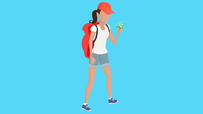 improve diabetes walking, a woman on a hike