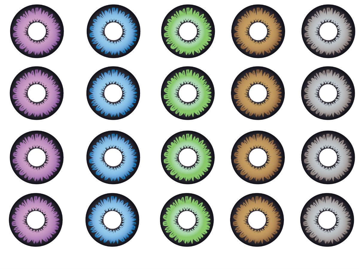 buying contact lenses online, rows of contact lenses