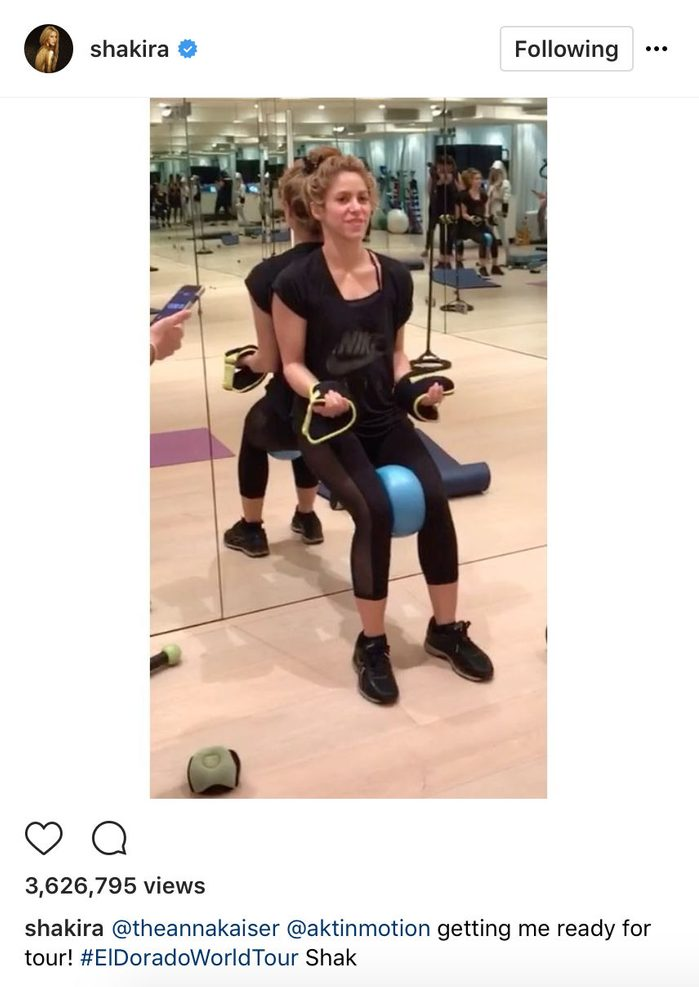 Shakira stays fit with trainer Anna Kaiser