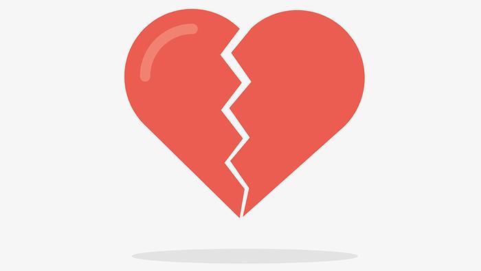 silent signs of asthma heart disease, a broken heart illustration