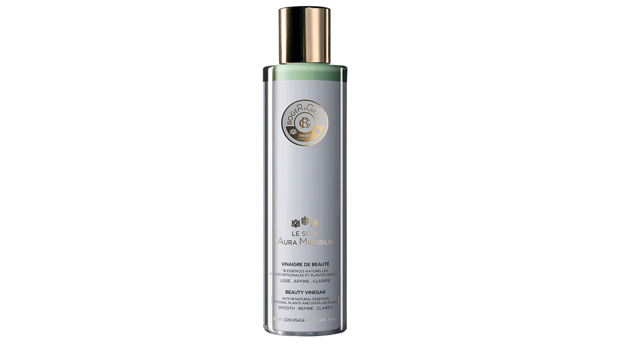 Skin savers Roger & Gallet Aura Mirabilis Beauty Vinegar bottle