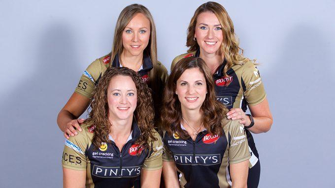 Team Canada Curling Rachel Homan, Emma Miskew, Joanne Courtney and Lisa Weagle.jpg