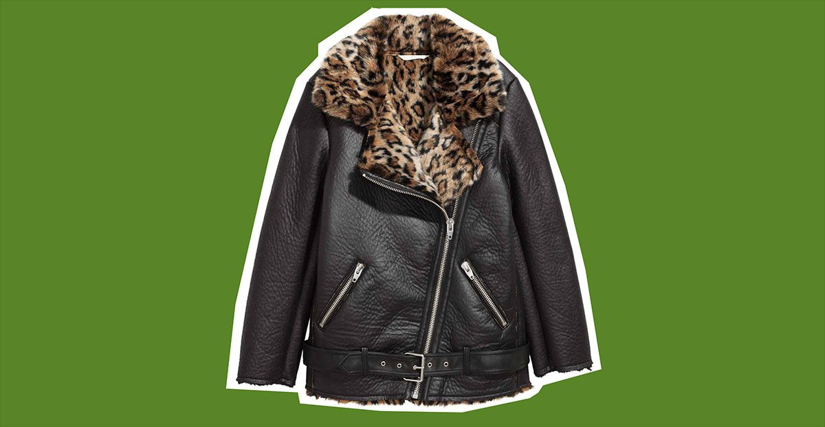 fall 2017 jackets HM Oversized Biker Jacket