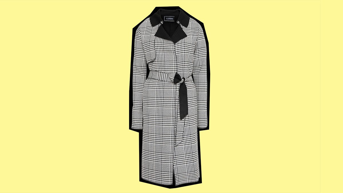 fall 2017 jackets le chateau houndstooth wrap