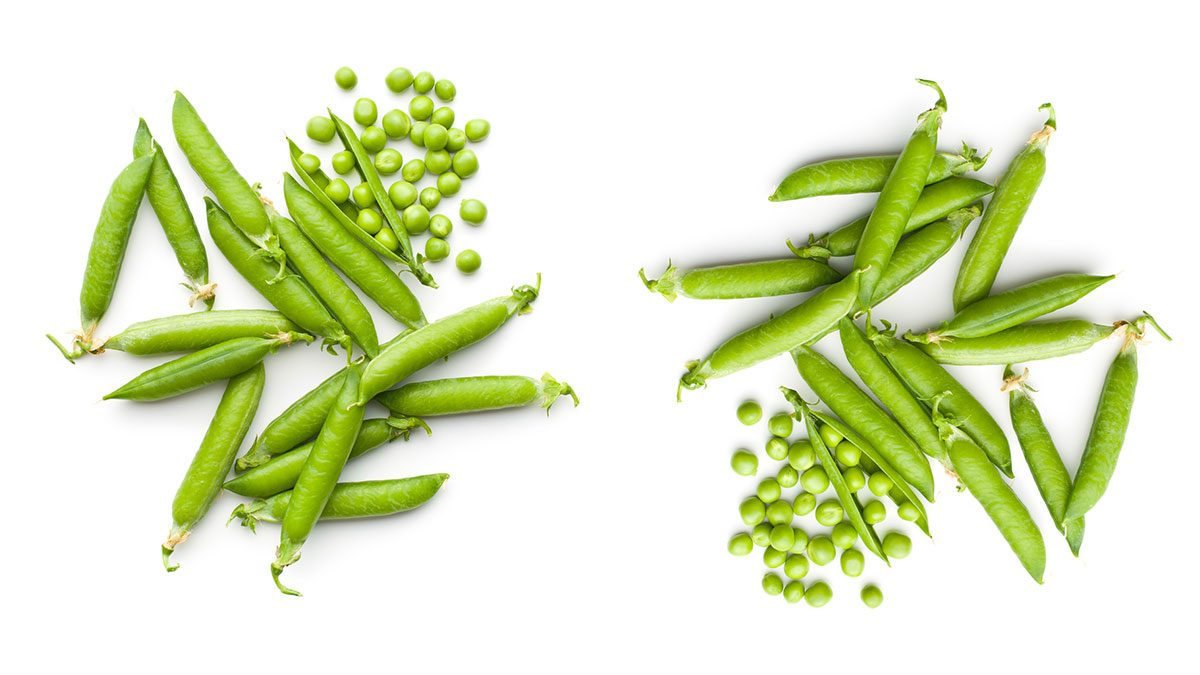 healthiest vegetables peas