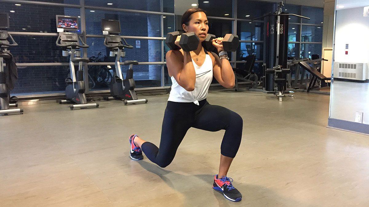 metabolism woorkout referse lunge
