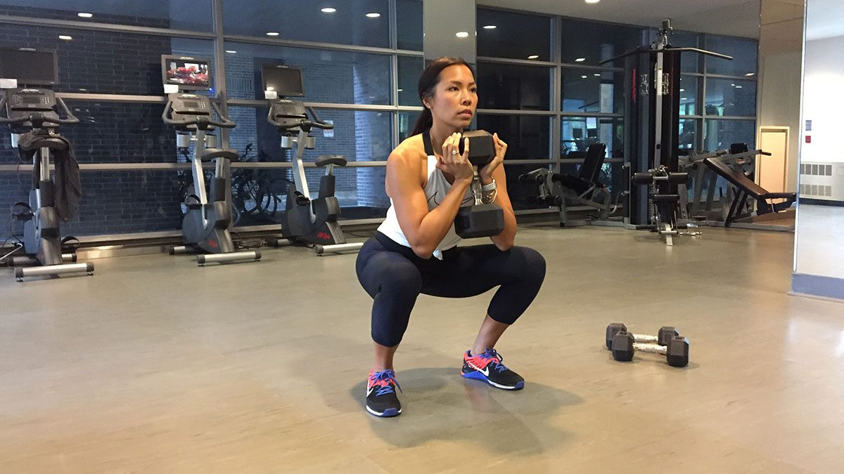 metabolism workout goblet squat