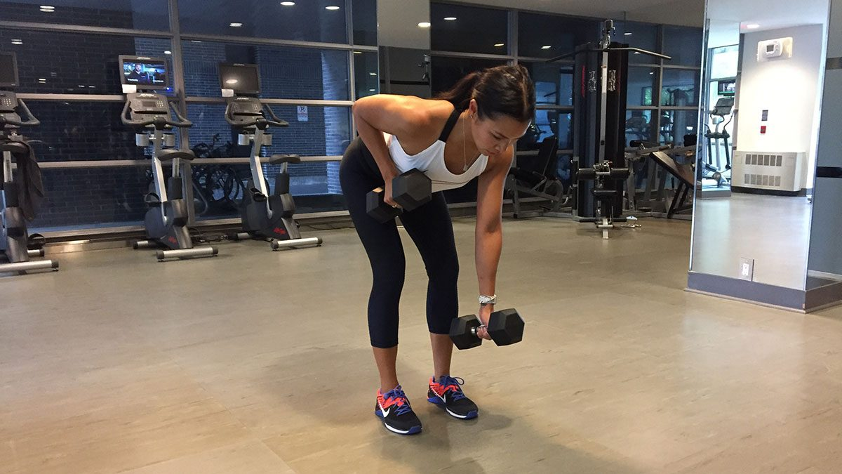 metabolism workout see-saw rows