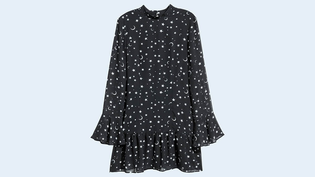 New Year's Eve colour, H&M moon star dress