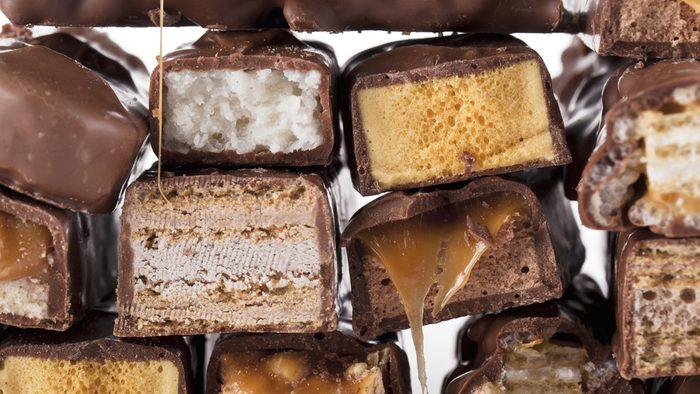 Worst halloween candy creamy chocoalte bars