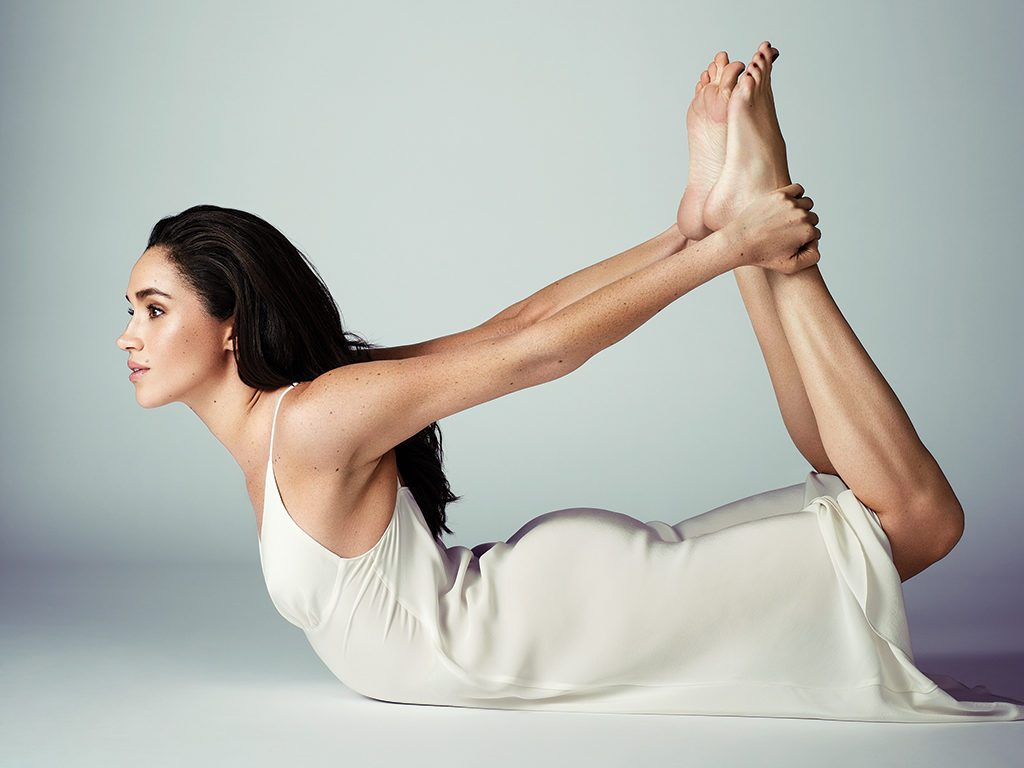 Meghan Markle photos Best Health cover shoot bow pose