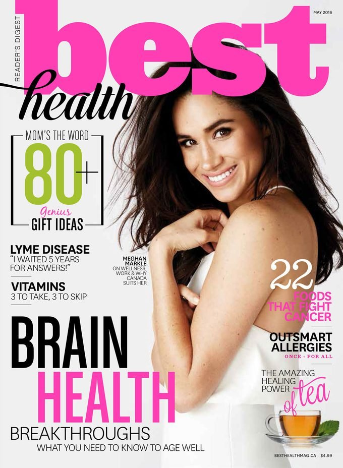 Meghan Markle on the cover of Best Health May 2017